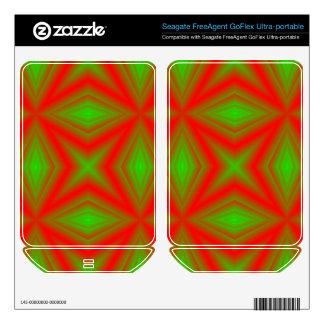 Green and red line Pattern FreeAgent GoFlex Decals