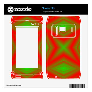 Green and red line Pattern Skin For The Nokia N8