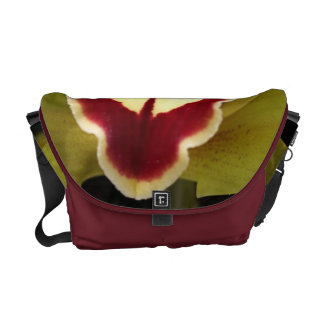 Green and Red Orchid Medium Messenger Bag