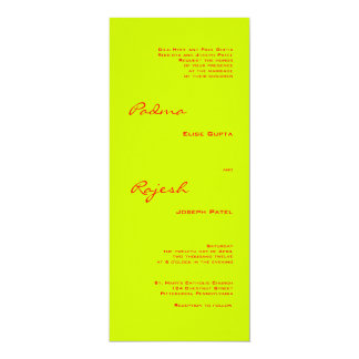 Green and Red Paisley Indian Wedding Card