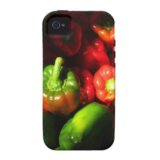 Green and red peppers vibe iPhone 4 cases