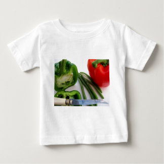 Green and Red Peppers with Beans Baby T-Shirt