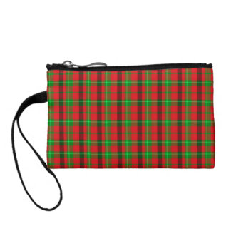 Green And Red Plaid Fabric Background Coin Wallet