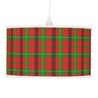 Green And Red Plaid Fabric Background Hanging Pendant Lamp