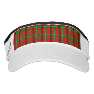 Green And Red Plaid Fabric Background Headsweats Visor