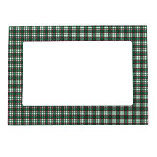 Green and Red Plaid Magnetic Picture Frame