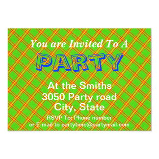 Green and Red Plaid Stripe Fabric Design Card