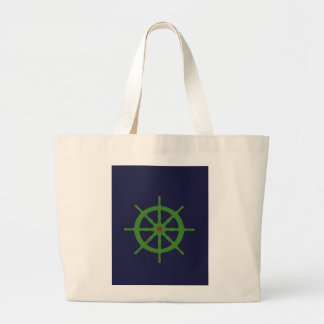 Green and red ship's wheel. bags