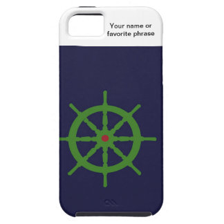 Green and red ship's wheel. iPhone 5 covers