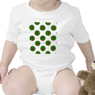 Green and Red Soccer Ball Pattern Rompers