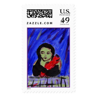 Green and Red Stamp