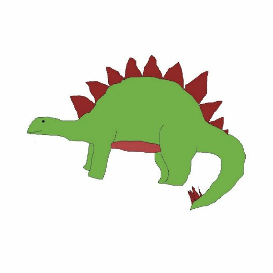 Green and Red Stegosaurus sculpture