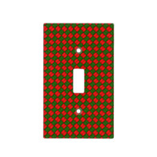 Green and Red Stitched Pattern Light Switch Cover