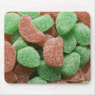 Green and red sugared candies mouse pad