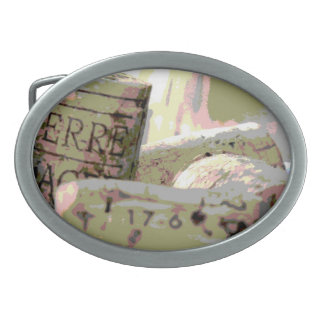 Green and Red Toned Wine Corks Belt Buckle