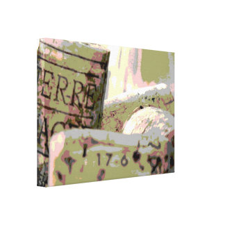 Green and Red Toned Wine Corks Canvas Print