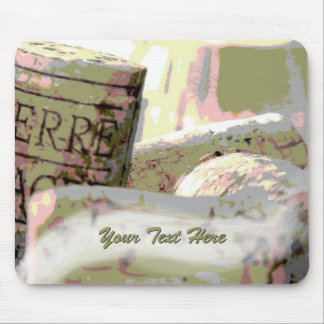 Green and Red Toned Wine Corks Custom Mouse Pad
