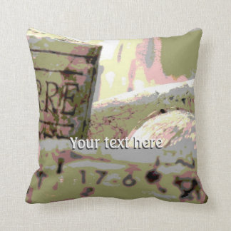 Green and Red Toned Wine Corks Custom Throw Pillow