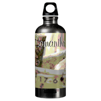 Green and Red Toned Wine Corks Personalized SIGG Traveler 0.6L Water Bottle