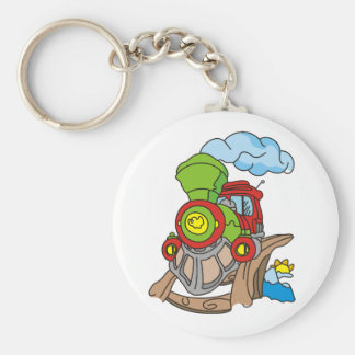 Green and Red Train Tshirts and Gifts Key Chains