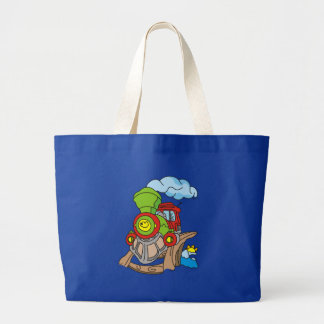 Green and Red Train Tshirts and Gifts Large Tote Bag