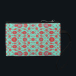 "Green and Red Vintage Floral Pattern Coin Wallet<br><div class=""desc"">This features an old fashioned floral pattern boldly colored in green,  red,  and a touch of violet.</div>"