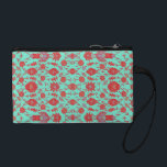 """Green and Red Vintage Floral Pattern Coin Wallet<br><div class=""""desc"""">This features an old fashioned floral pattern boldly colored in green,  red,  and a touch of violet.</div>"""