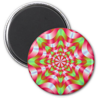 Green and Red Whirling Dervish Magnet