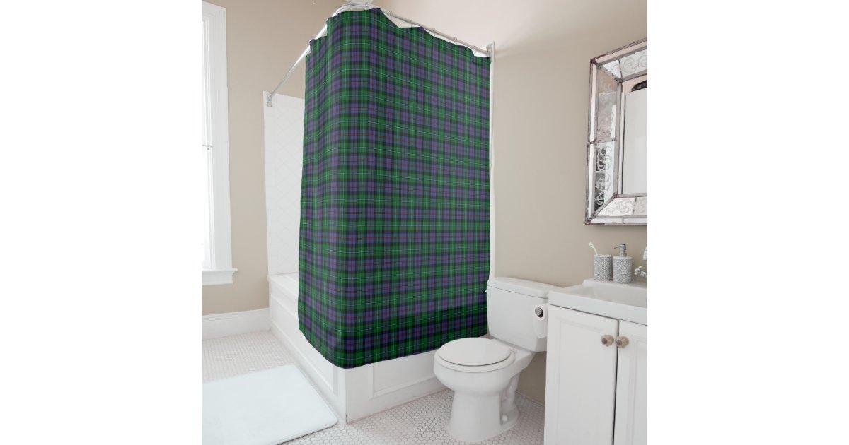 Green And Royal Blue Argyll Scotland Tartan Shower Curtain