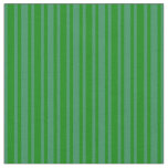 [ Thumbnail: Green and Sea Green Colored Lines Pattern Fabric ]