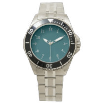 Green and Silver Liberty Wrist Watch