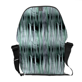 Green and Silver Metallic Effect Commuter Bags Courier Bags