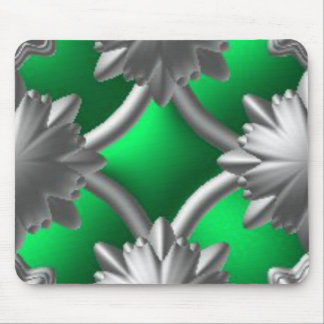 Green and Silver Mousepad