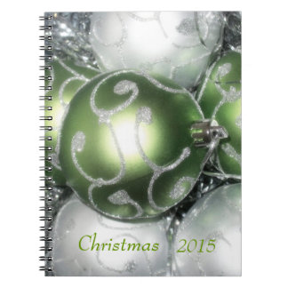 'Green and Silver Sparkle' Notebook/Journal Notebook