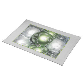 'Green and Silver Sparkle' Placemat