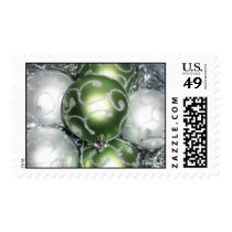'Green and Silver Sparkle' Postage