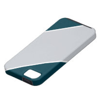 Green and Silver-Striped IPhone 5 Case