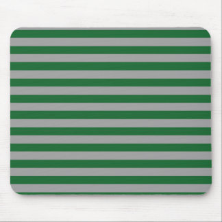 Green and Silver Stripes Mousepad
