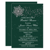 green and Silver Winter Bridal shower invite