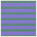 [ Thumbnail: Green and Slate Blue Pattern Fabric ]