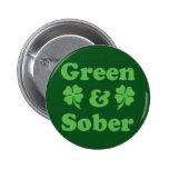 Green and Sober Pins