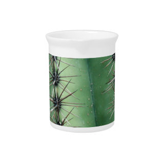 Green and Spikes Cactus Beverage Pitcher