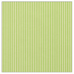 [ Thumbnail: Green and Tan Colored Lines Pattern Fabric ]