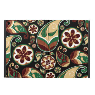 Green and Tan Retro Paisley Case For iPad Air