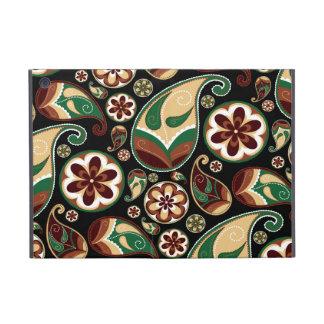 Green and Tan Retro Paisley Cases For iPad Mini