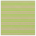 [ Thumbnail: Green and Tan Striped Pattern Fabric ]