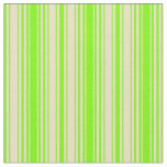 [ Thumbnail: Green and Tan Stripes/Lines Pattern Fabric ]