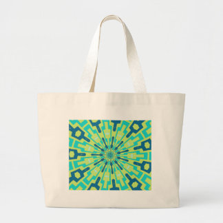 Green and Teal Abstract Tribal Tote Bag