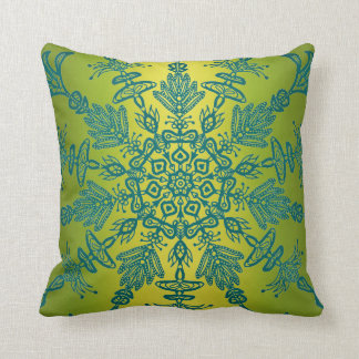 Green and Teal Dual Sided Boho Design Pillows