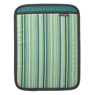 Green and Turquiose Stripe Pattern iPad Sleeves